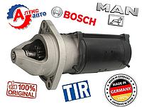 На Ман стартер Bosch, оригинал (24V, 4kW) man tgl l2000 tga Тгм запчасти  на грузовик для грузовых автомобилей