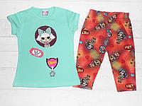 Детский костюм  летний на девочку с LOL 2,3,4,5 лет.