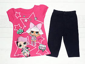 Детский костюм  летний на девочку с  LOL  3,4,5,6 лет.