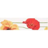 Плитка Атем Моно Моно настенная фриз Atem Monocolor Poppy R 275 х 70 мм