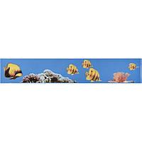 Плитка Атем Моно настенная фриз Atem Monocolor Fish 400 х 70 мм