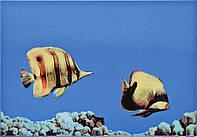 Плитка Атем Моно настенная декор Atem Monocolor Fish 2 275 x 400 мм