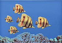 Плитка Атем Моно настенная декор Atem Monocolor Fish 3 275 x 400 мм