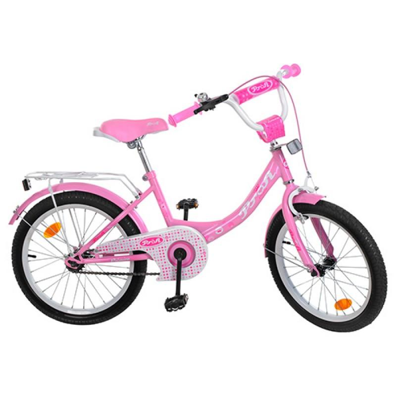 Детский двухколесный велосипед для девочкиPROFI 20 дюймов розовый, Y2011 Princess