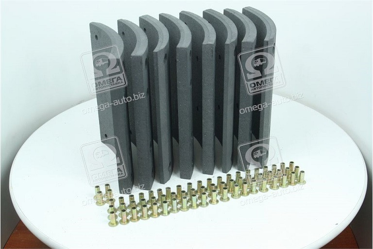 Накладка тормозная 410х223 стандарт MAN F90, F2000, TGA,  MB ACTROS (RIDER)