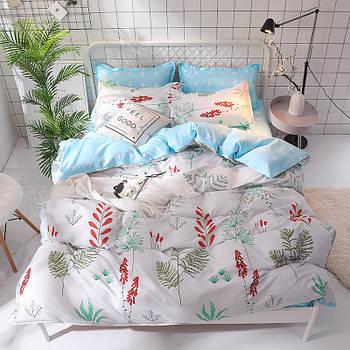 Комплект постельного белья Красные колокольчики (евро) Berni