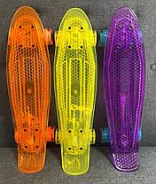 Скейт Пенни борд Penny Board Пенні Борд Светиться весь LED 22 Purple - Фиолетовый 54 см пенни борд, фото 3