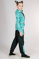 Р-р 36-40, Яркий трикотажный спортивный костюм для девочки