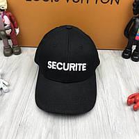 Современная бейсболка Vetements Securite черная унисекс хлопок мужская женская кепка Ветементс люкс реплика