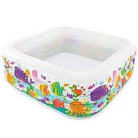 "Надувной бассейн для детей ""Аквариум""  Intex 159х159х50 см"