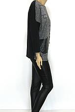 """Жіночий реглан-світшот оversize з принтом ,, вязка """" , фото 2"""