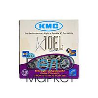 Цепь KMC X10 EL для 10 скоростных трансмиссий велосипеда