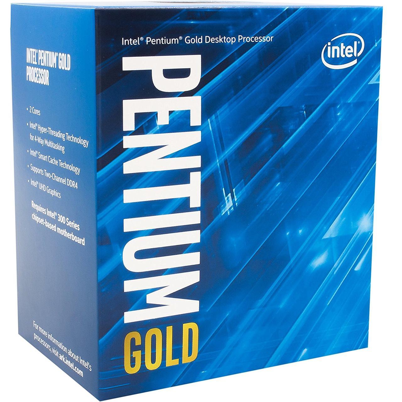 Процессор Intel Pentium Gold (LGA1151) G5400, Box, 2x3,7 GHz, UHD Graphic 610 (1