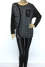 Жіноча кофта реглан з принтом Vogue, фото 2