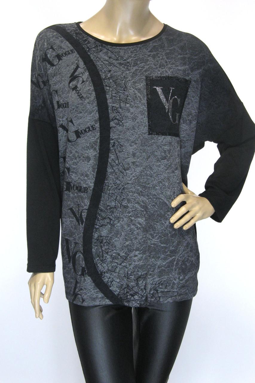 Жіноча кофта реглан з принтом Vogue