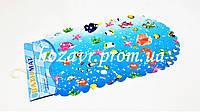 Детский коврик на присосках противоскользящий камни (красочные рыбки)