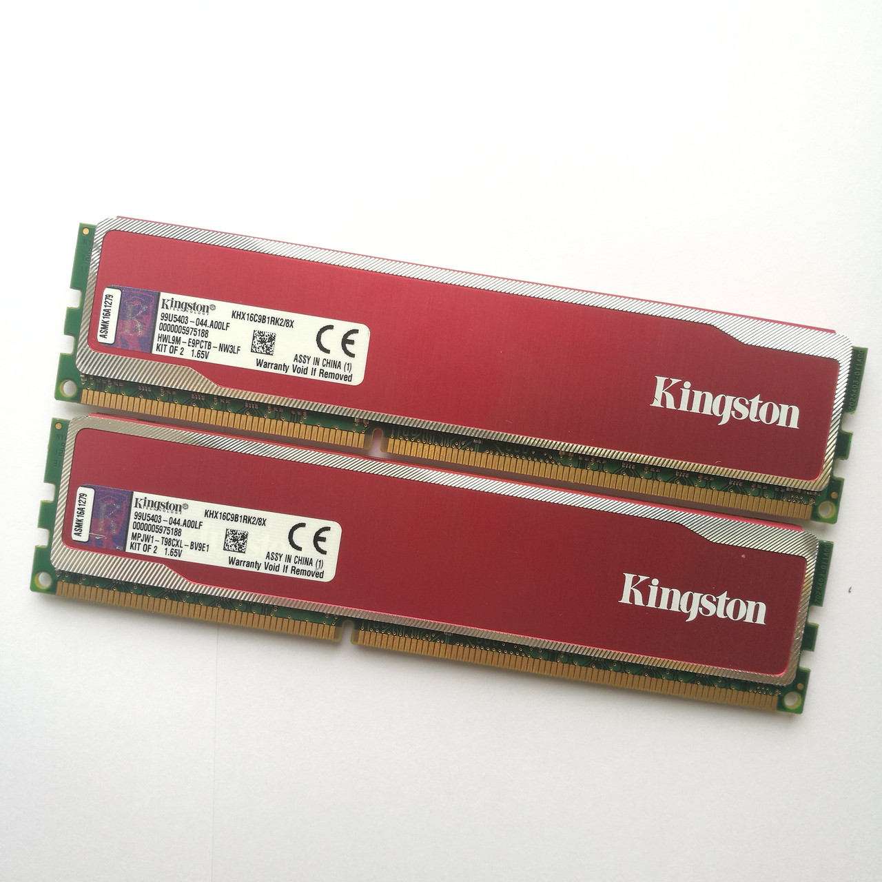 Игровая оперативная память Kingston DDR3 8Gb (2*4Gb) KIT of 2 1600MHz PC3 12800U CL9 (KHX16C9B1RK2/8X) Б/У