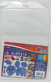 Фетр A4 білий 10 аркушів 170 г/м2 (1.2 мм/20х30см)