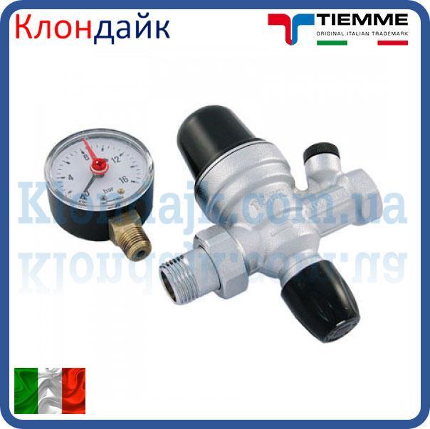 Клапан подпитки 1-6 Bar TIEMME 1/2' с манометром
