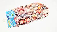 Коврик на присосках противоскользящий камни (ракушки) K0008