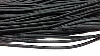 Резинка круглая, шляпная 4мм, (50м) черная