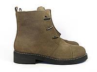 Темно -коричневые ботинки , фото 1