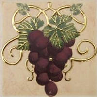 Плитка Атем Имола настенная декор Atem Imola Grape 100x100 мм