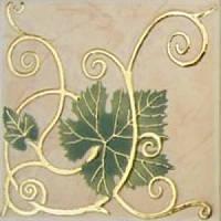 Плитка Атем Имола настенная декор Atem Imola Grape 1 Leaf 100x100 мм