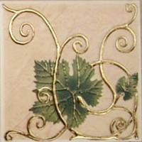 Плитка Атем Имола настенная декор Atem Imola Grape 2 Leaf 100x100 мм