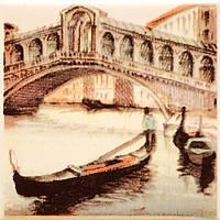 Плитка Атем Парма настенная декор Atem Parma Sity Bridge 2 B 100x100 мм