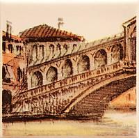 Плитка Атем Парма настенная декор Atem Parma Sity Bridge 1 B 100x100 мм