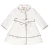 Элегантное Демисезонное Пальто Для Девочек Белого Цвета С Бархатной Отделкой Brums Италия