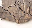 Карта Украины на стену тонированная с фанеры, фото 7