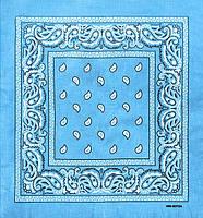 ⭐Бандана классическая светло-голубая Street, фото 1