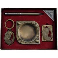 Подарочный набор Moongrass Пепельница, брелок, ручка, зажигалка AL314