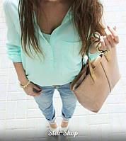 Блуза женская Неон голубая, кофта женская