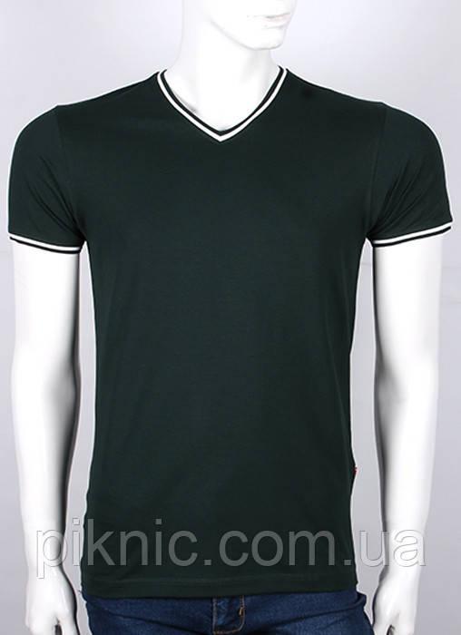 Мужская молодежная футболка М. Украина. Однотонная. Хлопок 92%. Черный