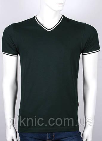 Мужская молодежная футболка М. Украина. Однотонная. Хлопок 92%. Черный, фото 2