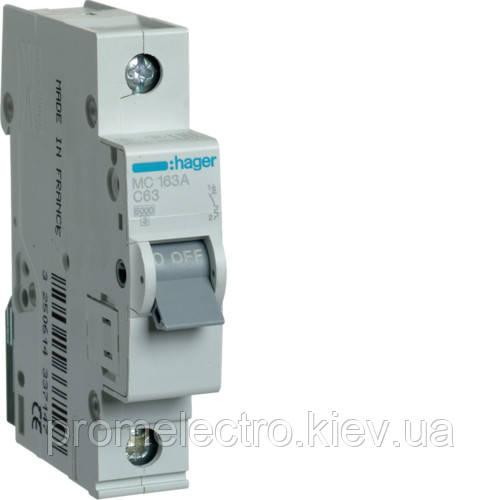 Автоматический выключатель Hager In32 А, 1п, С, 6 kA, 1м (MC132A)