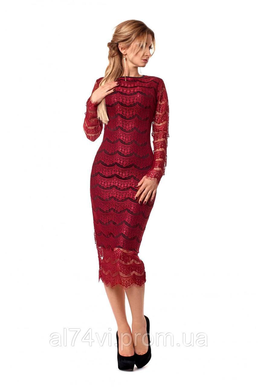 4d6b417b52c Стильное кружевное платье облегающего силуэта