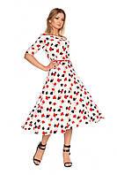"""Яркое и воздушное женское платье """"Карты"""", белый"""