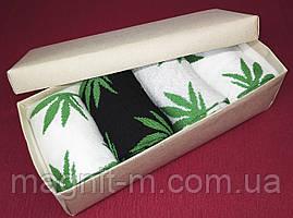 Набор мужских носков в подарочной картонной коробке. Конопля ассорти