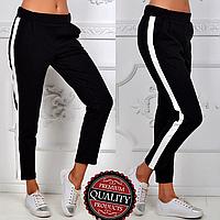 Женские брюки с лампасами | Жіночі брюки з лампасами (Черный)