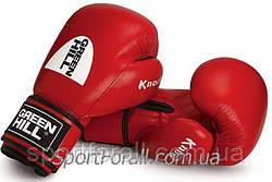 """Боксерские перчатки """"KNOCK"""" ФБУ Green Hill (красные)"""