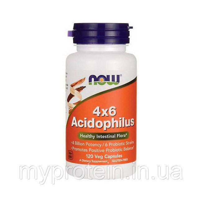 NOW комплекс ацидофильных бактерий 4x6 Acidophilus 120 veg caps