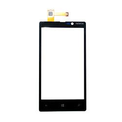 Сенсорний екран для смартфону Nokia Lumia 820, чорний