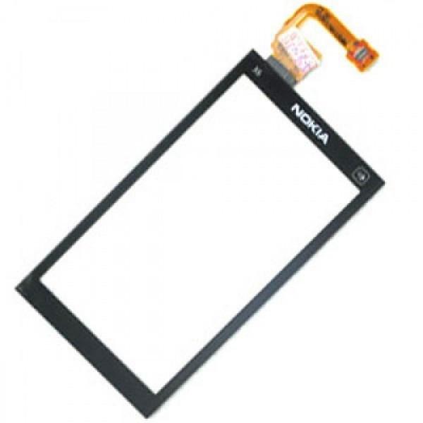 Сенсорний екран для смартфону Nokia X6-00, з рамкою, чорний