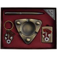 Подарочный набор Moongrass Пепельница, брелок, ручка, зажигалка AL316