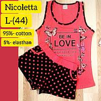 Комплект женский для сна и дома Niсolettа( майка и шорты )Размер  L ( 1489e430552a8