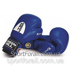 """Боксерские перчатки """"KNOCK"""" ФБУ Green Hill (синий)"""